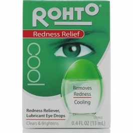 Rohto Cool Redness Relief Lubricant Eye Drops - 0.4 fl oz bottle
