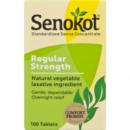 Senokot Natural Vegetable Laxative - 100 Tablets