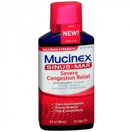 Mucinex Sinus-Max Maximum Strength Severe Congestion Relief Liquid- 6oz
