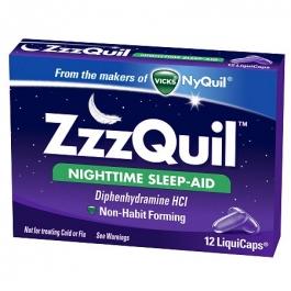 ZzzQuil Nighttime Sleep-Aid LiquiCaps  - 12ct