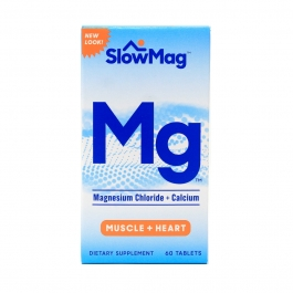Slow-Mag Magnesium Chloride Dietary Supplement Tablets with Calcium - 60ct