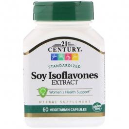 21st Century Soy Isoflavones Veg-Capsules, 60 ct