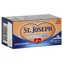 St. Joseph Safety Coated Aspirin 81 mg Tablets - 120ct