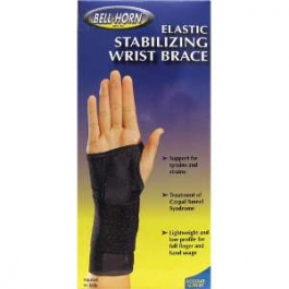 Elastic Stabilizing Wrist Brace (Black) Left - Small