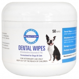 Dental Wipes for Dogs and Cats- 50 Count