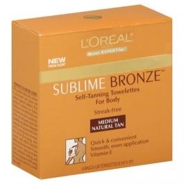 L'Oreal Sublime Bronze Self-Tanning Towelettes, Medium- 6ct