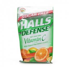 Halls Defense Sugar Free Vitamin C Drops, Assorted Citrus- 25ct