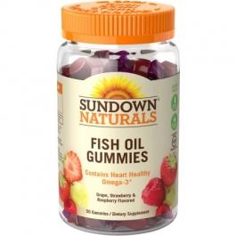 Sundown Naturals Fish Oil Omega-3 EPA/DHA with Vitamin D3 Dietary Supplement Gluten-Free Gummies - 50ct