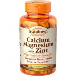 Sundown Naturals Calcium Magnesium Zinc Caplets - 100ct