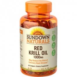 Sundown Naturals Krill Oil 1000 mg Dietary Supplement Softgels - 60ct