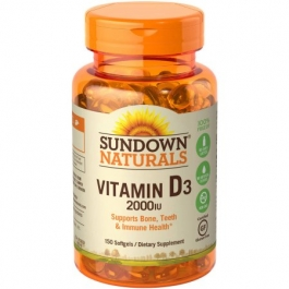 Sundown Naturals Vitamin D3 2000IU Supplement Softgels - 150ct