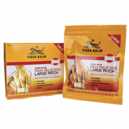 """Tiger Balm Pain Relief Patch 8"""" x 4"""" - 4ct"""