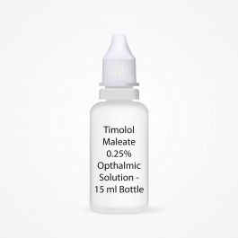Timolol Maleate 0.25% Opthalmic Solution - 15 ml Bottle