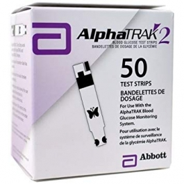 AlphaTrak 2 Blood Glucose Monitoring Test Strips- 50ct