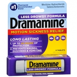 Dramamine Meclizine Hydrochloride Less Drowsy Formula Tablets - 8ct
