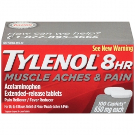 TYLENOL 8 Hour Muscle Aches & Pain 650 mg Caplets - 100ct