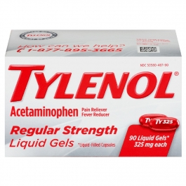 Tylenol Regular Strength Liquid Gels 325 mg - 90ct