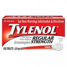 TYLENOL Regular Strength Pain Reliever & Fever Reducer 325 mg Tablets - 100ct