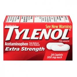 TYLENOL® Extra Strength Acetaminophen 500 mg Caplets- 24ct