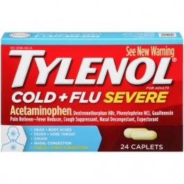 Tylenol Cold & Flu Severe Caplets, 24ct