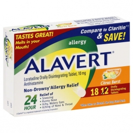 Alavert 24 Hour Allergy Relief Orally Disintegrating Tablets, Citrus, 18ct