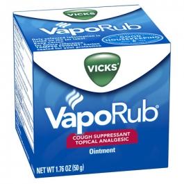 Vicks® VapoRub Cough Suppressant Topical Analgesic Ointment Original- 1.76oz