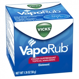 Vicks® VapoRub Cough Suppressant Topical Analgesic Ointment Original- 6oz