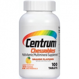 Centrum Chewables Multivitamin/Multimineral Supplement in Orange Burst Flavor - 100ct