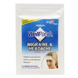 WellPatch Migraine & Headache Cooling Patch - 4ct