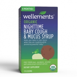 Wellements® Organic Night Time Baby Cough & Mucus Syrup- 2oz