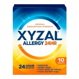 Xyzal 24 Hour Allergy Relief 5mg Tablets - 10ct