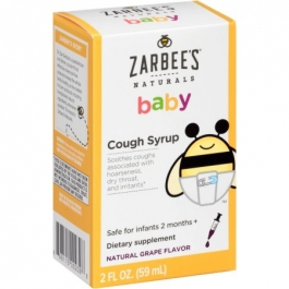 Zarbee's Naturals Baby Cough Syrup, Grape- 2oz