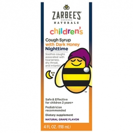 Zarbee's Naturals Children's Nighttime Cough Syrup, Grape- 4oz