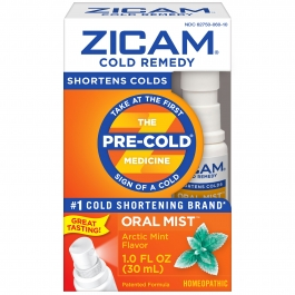 Zicam Cold Remedy Plus Oral Mist, Arctic Mint- 1oz