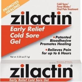 Zilactin Cold Sore Relief Gel - 0.25 oz
