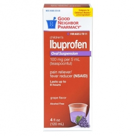 GNP® Children's Ibuprofen Oral Suspension, Grape- 4oz