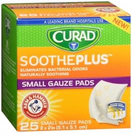 Curad SoothePlus Medium Non-stick Pads - 2in x 2in - 25ct