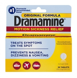 Dramamine Original Motion Sickness Relief Tablets, 50mg - 36ct