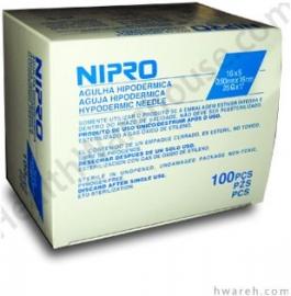 "Nipro Hypodermic Needle 25 Gauge, 5/8"", 100 Count"