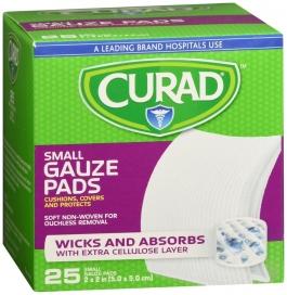 "Curad Pro-Gauze Sterile Pads, 2"" x, 2"", 25ct"