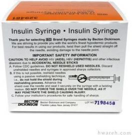 "BD Micro-Fine IV Lo-Dose Insulin Syringe 28 Gauge, 5/10cc, 1/2"", 100 Count"