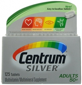 Centrum Silver Adults 50+ Multivitamin Tablets - 125ct