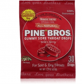 Pine Bros. Original Softish Throat Drops, Wild Cherry- 30ct