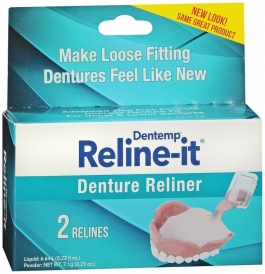 Dentemp Reline-It Denture Reliner, 2ct