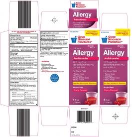 GNP Children's Diphedryl Elixir, Cherry- 4oz