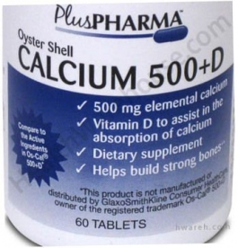 Oyster Shell Calcium 500+D - 60 Tablets***otc Discontinued  2/19/14