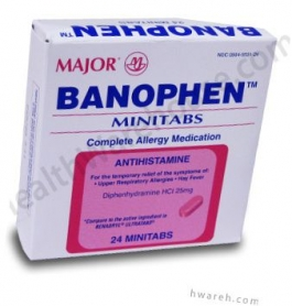 Banophen 25mg MiniTabs - 24 Tablets
