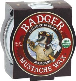 Badger Man Care Mustache Wax - .75oz Tin