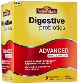 Nature Made Digestive Probiotics Advanced Dual Support Capsules - 60ct