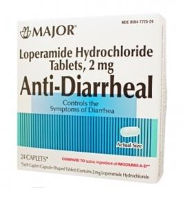 Major Anti-Diarrheal (Loperamide 2mg) Capsules - 24 Count Box